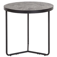"""Providence Collection 19.5"""" Round End Table in Concrete Finish"""