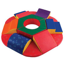 SoftZone® 15 Piece Vinyl Covered Foam Round About Activity Climber