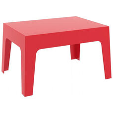 Box Resin Outdoor Stackable Coffee Table - Red