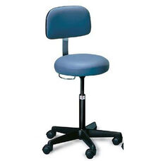 Hand Controlled Adjustable Height Air-Lift Stool with Backrest