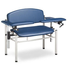 SC Series Extra Wide Padded Blood Drawing Chair with Padded Flip Arms
