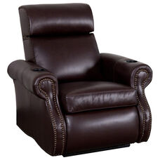 Bradford Theater Seat in Top Grain Leather with Leather Match