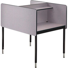 Double-Sided Adjustable Height Starter Study Carrel - 37