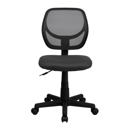 Basics Mesh Swivel Task Office Chair with Curved Back, Gray