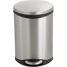Ellipse 3 Gallon Step on Medical Trash Receptacle - Stainless Steel