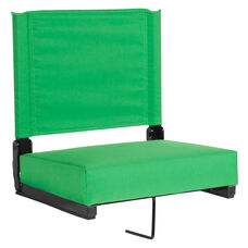 Grandstand Comfort Seats by Flash with Ultra-Padded Seat in Bright Green