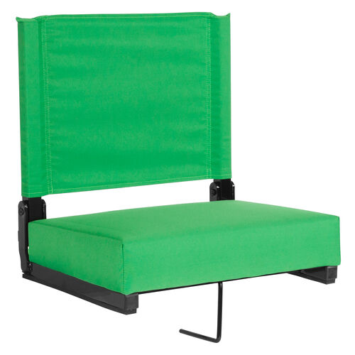 Our Grandstand Comfort Seats by Flash with Ultra-Padded Seat in Bright Green is on sale now.
