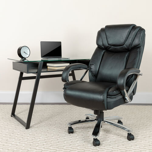 Our HERCULES Series Big & Tall 500 lb. Rated Black LeatherSoft Executive Swivel Ergonomic Office Chair with Extra Wide Seat is on sale now.