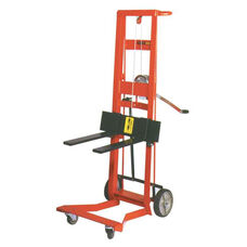 Four-Wheeled Winch Model Steel Frame Pedal Lift With Fork Lifter