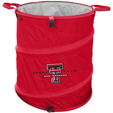 Texas Tech University Team Logo Collapsible 3-in-1 Cooler Hamper Wastebasket