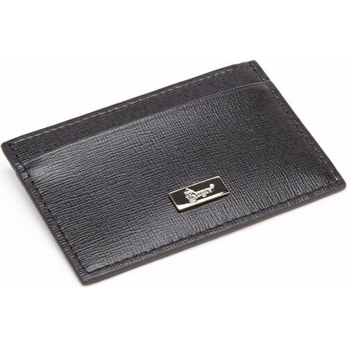 Our RFID Blocking Slim Credit Card Wallet - Saffiano Genuine Leather - Black is on sale now.