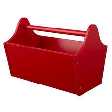 Kids Wooden Storage Toy Caddy - Red