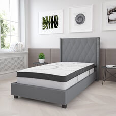Capri Comfortable Sleep 12 Inch CertiPUR-US Certified Hybrid Pocket Spring Mattress, Twin Mattress in a Box