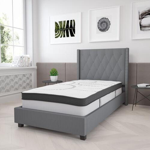 Capri Comfortable Sleep 12 Inch CertiPUR-US Certified Hybrid Pocket Spring Mattress, Mattress in a Box