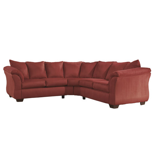 Our Signature Design by Ashley Darcy Sectional in Salsa Microfiber is on sale now.