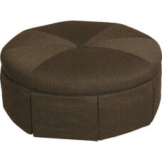 4550 Fully Upholstered Round Ottoman - Grade 2