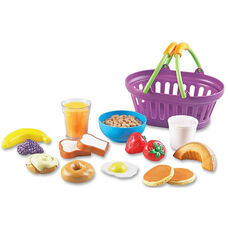 Learning Resources New Sprouts - Play Breakfast Basket - 17 Pieces