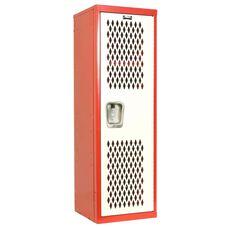 Home Team Locker Unassembled - Red Body & White Door - 15