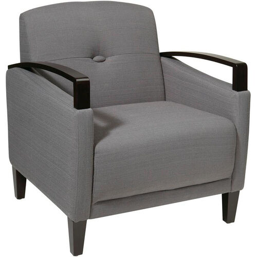 Our Ave Six Main Street Chair with Espresso Finish Legs and Curved Arms - Charcoal is on sale now.