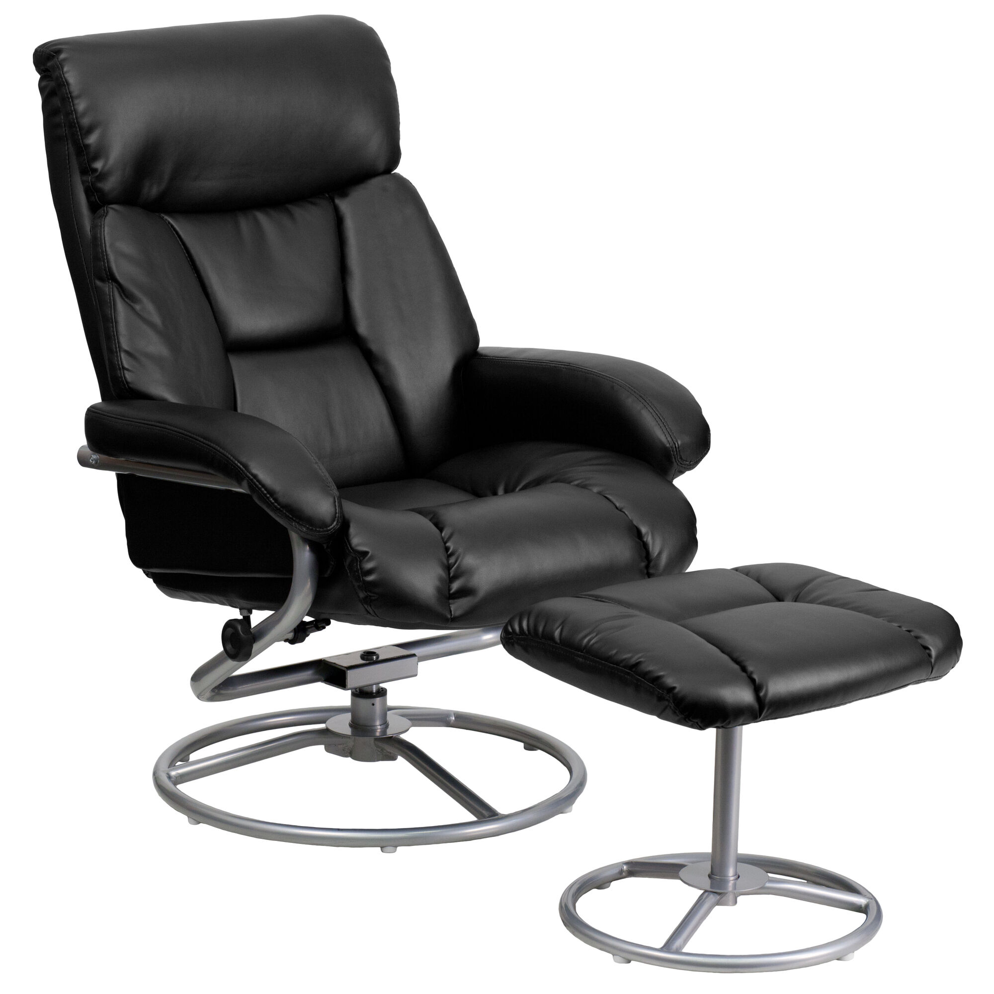Our Contemporary Multi Position Recliner And Ottoman With