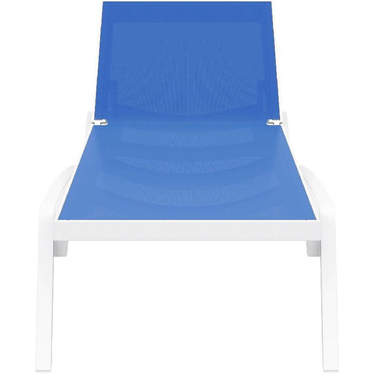 Compamia isp089 whi blu cmp for Blue mesh chaise lounge