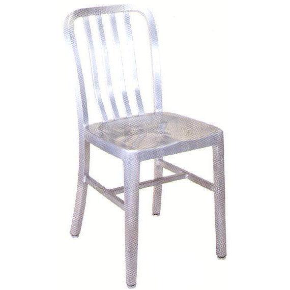 Exceptional Armless Slat Back Aluminum Chair
