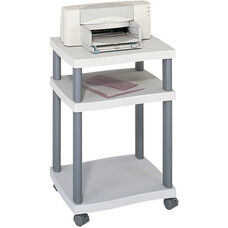 Wave 20'' W x 17.5'' D x 29.25'' H Mobile Side Desk and Printer Stand - Light Gray