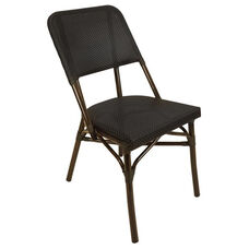 Mai Tai Aluminum Armless Stacking Side Chair - Walnut