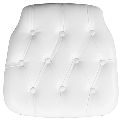 Our Hard White Tufted Vinyl Chiavari Chair Cushion is on sale now.
