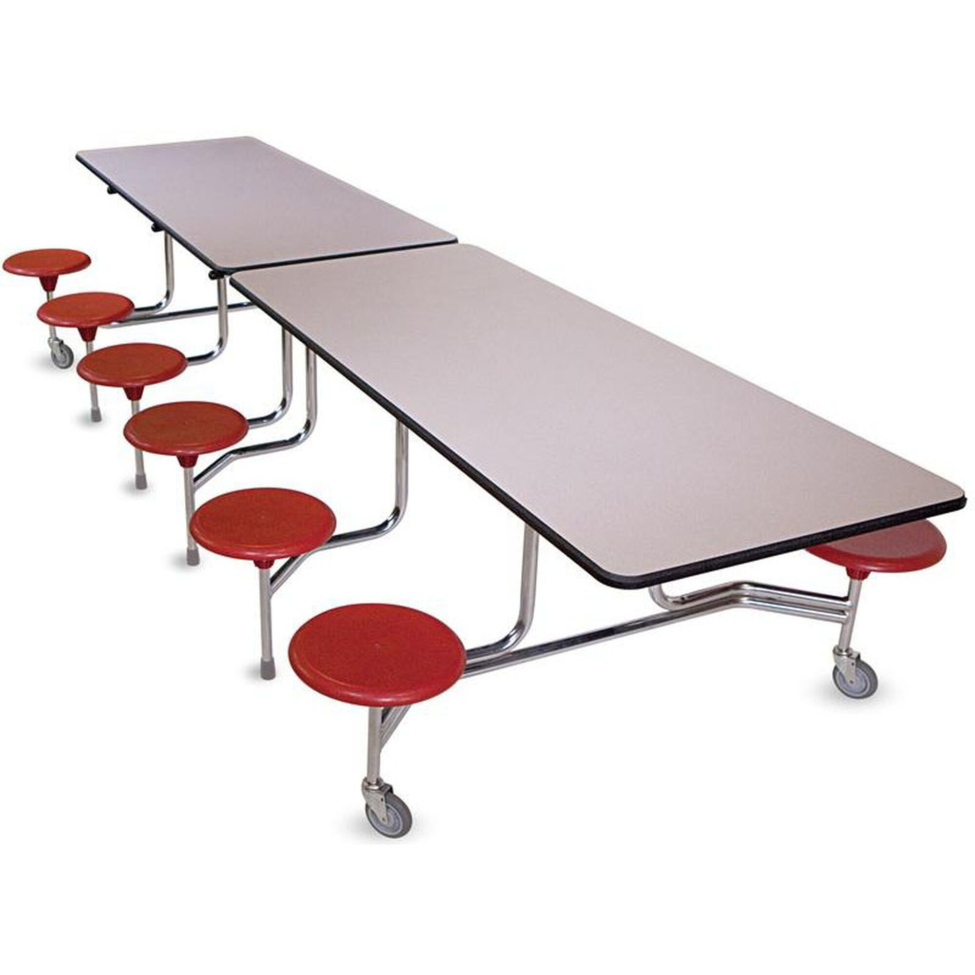 Biofit intermediate foldable cafeteria table with 12 for 120 round table seats how many