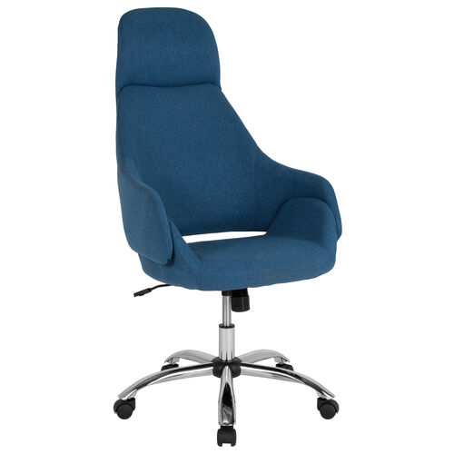 Our Marbella Home and Office Upholstered High Back Chair in Blue Fabric is on sale now.