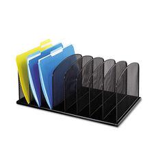 Safco® Mesh Desk Organizer - Eight Sections - Steel - 19 1/2 x 11 1/2 x 8 1/4 - Black