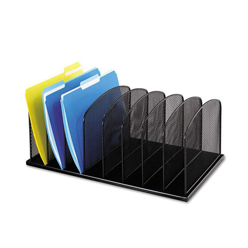 Our Safco® Mesh Desk Organizer - Eight Sections - Steel - 19 1/2 x 11 1/2 x 8 1/4 - Black is on sale now.