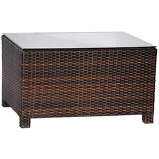 Outdoor Weave Series Coffee Table - Espresso