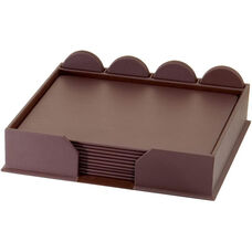Leatherette 23 Piece Conference Room Set - Chocolate Brown