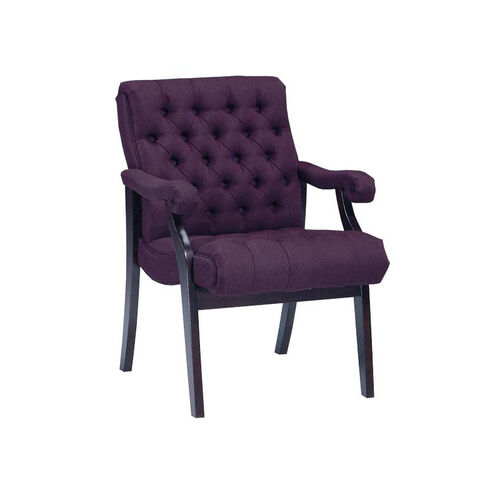Heritage Series Side Chair with Tufts and Full Upholstered Arms