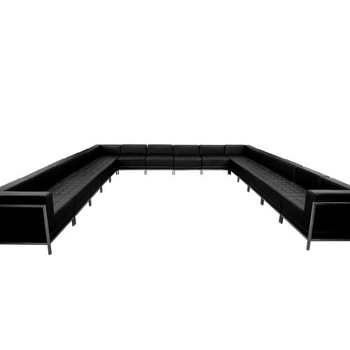 Our HERCULES Imagination Series Black LeatherSoft U-Shape Sectional Configuration, 16 Pieces is on sale now.