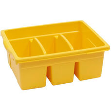 Royal Large Divided Environmentally Friendly Tough Plastic Tub - Yellow - 15.63