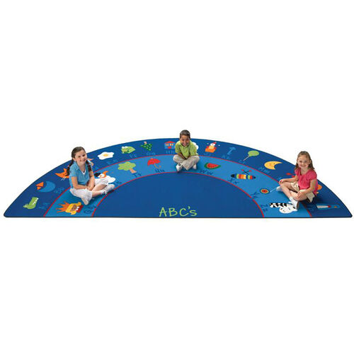 Our Fun With Phonics Oval Nylon Rug - 90