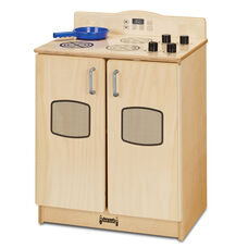 Natural Birch Play Kitchen Stove with Wooden Buttons - 20