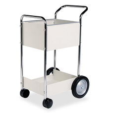 Fellowes® Steel Mail Cart - 75-Folder Capacity - 20w x 25-1/2d x 39h - Dove Gray