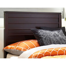 Uptown Contemporary Wood Headboard - Full or Queen - Espresso