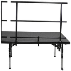 Guard Rail with Heavy - Gauge Steel Tubing Rails and Chair Stop for Stage and Seated Riser - 25