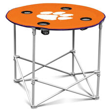 Clemson University Team Logo Round Folding Table
