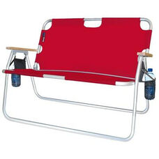 Tailgater Two Person Folding Aluminum Chair - Red