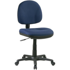 Work Smart Sculptured Deluxe Task Chair - Black