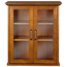 Avery Wall Cabinet with Two Doors - Oil Oak