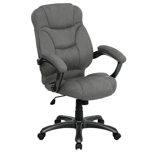 Our High Back Gray Microfiber Contemporary Executive Swivel Ergonomic Office Chair with Arms is on sale now.