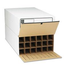 Safco® Tube-Stor Roll File - Storage Box - 24 x 37-1/2 x 12 - White - 2/Ctn