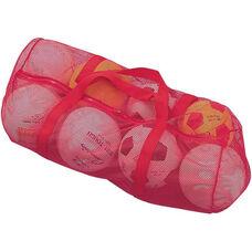 Mesh Duffel Bag in Scarlet